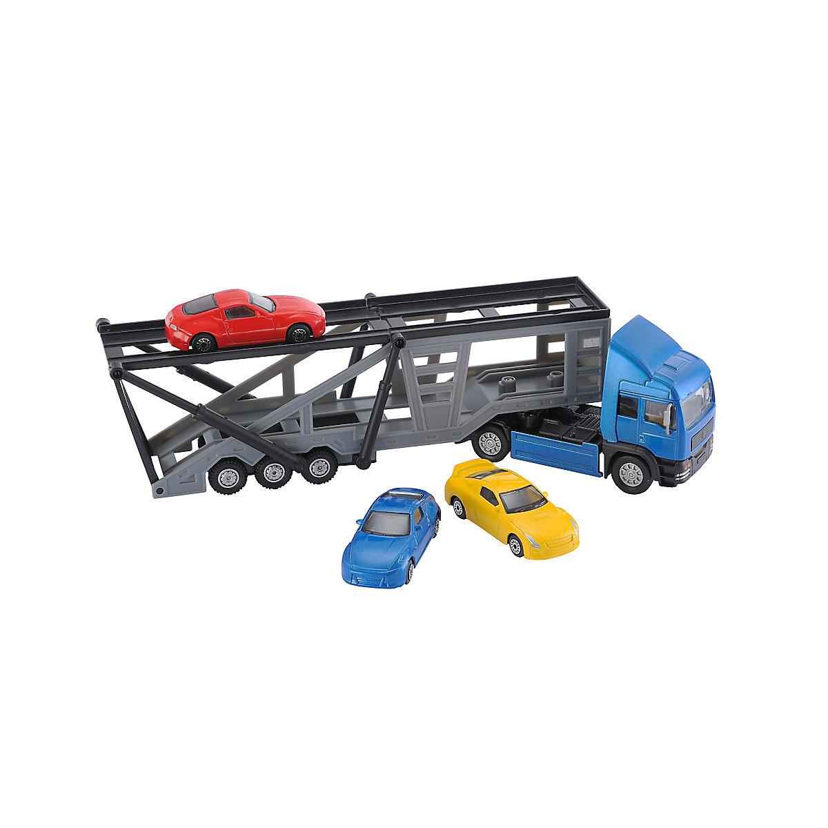 Image of ELC Boys and Girls Big City Car Transporter with 3 Cars Toy From 3 years